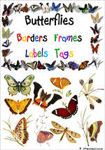 Butterfly  Theme | Border - Frames- Labels -Tags