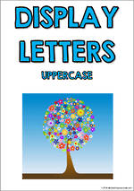 Display Letters | Uppercase | Blue | Set 6