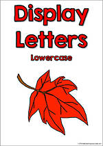 Display Letters | Lowercase | Red | Set 7