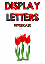 Display Letters | Uppercase | Red  | Set 8