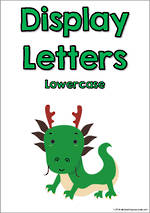 Display Letters | Lowercase | Green | Set 10