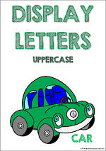 Display Letters | Uppercase | Green | Set 12