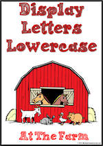 Display Letters | Lowercase | Red | Set 15