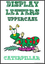 Display Letters | Uppercase | Green | Set 18