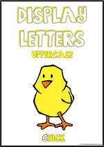 Display Letters | Uppercase | Yellow | Set 24