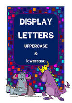 Instant Display  | Uppercase & Lowercase  Letters | Geometric Pattern