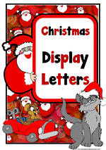 Instant Display | Uppercase & Lowercase Letters  | Santa Claus Design