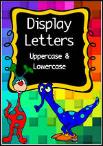 Instant Display  | Uppercase & Lowercase Letters |  Rainbow Tile Pattern