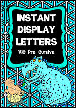Instant Display | Uppercase & Lowercase | VIC Pre Cursive | Letters