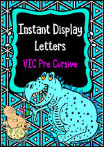 Instant Display | Uppercase & Lowercase Letters | Triangle Pattern | VIC Pre Cursive