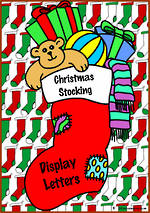 Instant Display | Uppercase & Lowercase Letters | Christmas Stocking Design