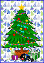 Instant Display | Uppercase & Lowercase Letters  | Christmas Tree Design - Set 1