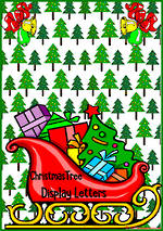 Instant Display | Uppercase & Lowercase Letters  | Christmas Tree Design - Set 2