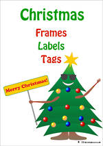 Christmas | Xmas Tree & Gifts Theme | Frames - Labels - Tags