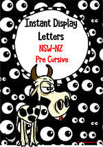 Instant Display | Uppercase & Lowercase Letters | Googly Eyes Design | NSW-NZ  Pre Cursive