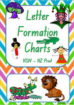 Foundation Handwriting | Letter Formation |  Charts | NSW – NZ Print