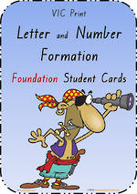 Foundation Handwriting | Letter Formation |  Cards | VIC Print
