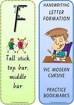 Foundation Handwriting | Terminology | Bookmark | Uppercase Letter | Cards | VIC Modern PreCursive