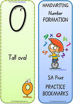 Foundation Handwriting | Terminology | Bookmark | Number | Cards | SA Print