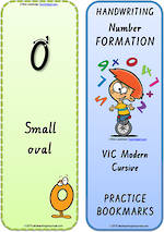 Foundation Handwriting | Terminology | Bookmark | Number | Cards | VIC Modern PreCursive