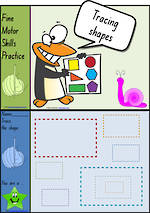 Foundation Handwriting | Practice | Tracing Shapes | Colour Charts | NSW-NZ Print