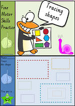 Foundation Handwriting | Practice | Tracing Shapes | Colour Charts | VIC Modern PreCursive