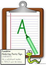 Foundation Handwriting | Practice | Letter | Charts | VIC Print