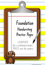 Foundation  Handwriting | Practice | Number | QLD Print