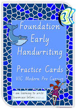 Foundation Handwriting | Practice | Lowercase Letters | Cards | VIC Modern PreCursive