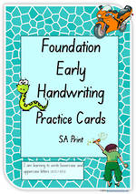 Foundation Handwriting | Practice | Lowercase - Uppercase Letter | Cards | SA Print