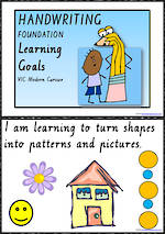 Foundation Handwriting | Visible Learning | Learning Goals | Charts |  VIC PreCursive