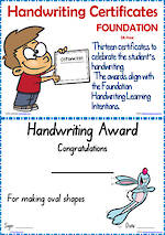 Foundation Handwriting | Visible Learning | Achievement Certificates | SA Print