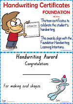 Foundation Handwriting | Visible Learning | Achievement Certificates | VIC Print