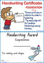 Foundation Handwriting | Visible Learning | Achievement Certificates | QLD Print