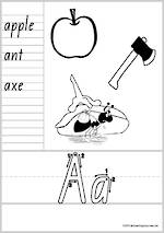 Year 1 Handwriting | Letter Formation | Letter - Word | Black & White  Pages | QLD Print