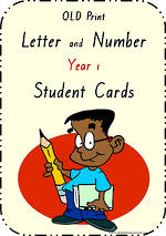 Year 1 Handwriting | Letter Formation | Table  Cards | QLD Print