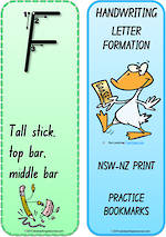 Year 1 Handwriting | Terminology | Bookmark | Uppercase Letter | Cards | NSW-NZ Print