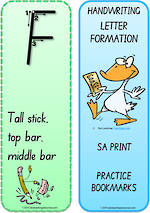 Year 1 Handwriting | Terminology | Bookmark | Uppercase Letter | Cards | SA Print