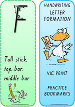 Year 1 Handwriting | Terminology | Bookmark | Uppercase Letter |Cards | VIC Print