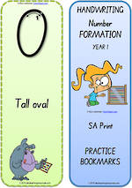 Year 1 Handwriting | Terminology | Bookmark | Number | Cards | SA Print