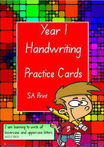 Year 1 Handwriting | Practice | A-Z Letter- Word - Number | SA Print