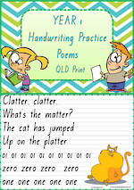Year 1 Handwriting | Practice | Poems | QLD Print
