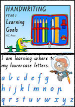 Year 1 Handwriting | Visible Learning | Learning Goals| VIC Print