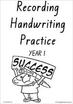 Year 1 Handwriting | Visible Learning | Recording | Black and White | VIC Print