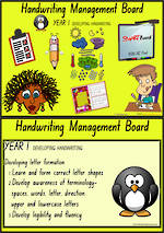 Year 1 Handwriting  |  Management | Cards | NSW-NZ Print