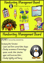 Year 1 Handwriting  |  Management | Cards | SA Print