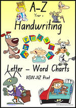 Year 1 Handwriting | Management | Letter – Word | Colour Charts | NSW-NZ Print