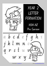 Year 2 Handwriting | Letter Formation | Uppercase | Lowercase | NSW-NZ PreCursive