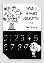 Year 2 Handwriting | Number Formation | SA PreCursive