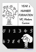 Year 2 Handwriting | Number Formation | VIC Modern PreCursive